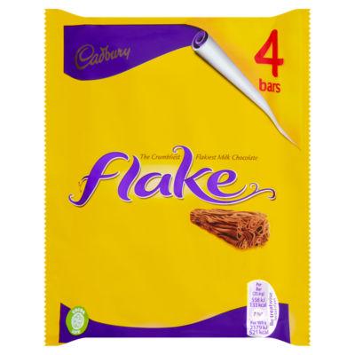 Cadbury Flake Chocolate Bar 4 Pack