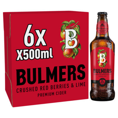 Bulmers Crushed Red Berries & Lime Premium Cider Bottles