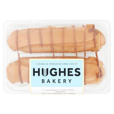 Hughes Bakery 2 Fresh Cream Caramel Eclairs