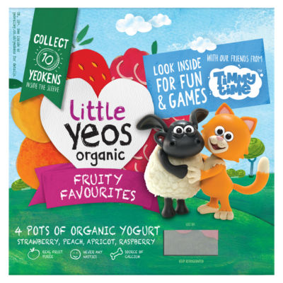 Yeo Valley Little Yeos Organic Fruity Favourites Yogurt