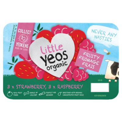 Yeo Valley Little Yeos Organic Strawberry & Raspberry Yogurt
