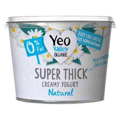 Yeo Valley Organic Super Thick 0% Fat Natural Kerned Yogurt