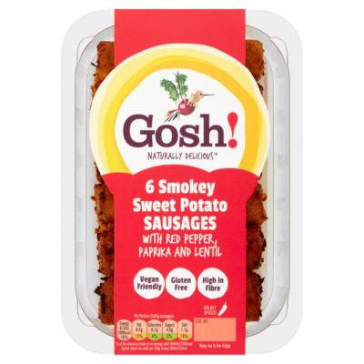 Gosh! 6 Smoky Sweet Potato & Red Pepper Sausages