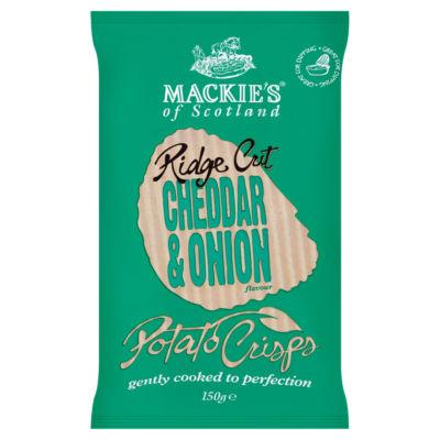 Mackie's of Scotland Ridge Cut Cheddar & Onion Flavour Potato Crisps