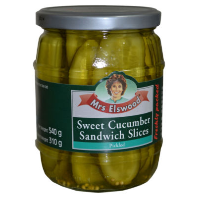 Mrs Elswood Sweet Cucumber Sandwich Slices Pickled