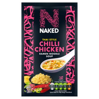 Naked Noodle Ramen Noodles Thai Chilli Chicken Soup