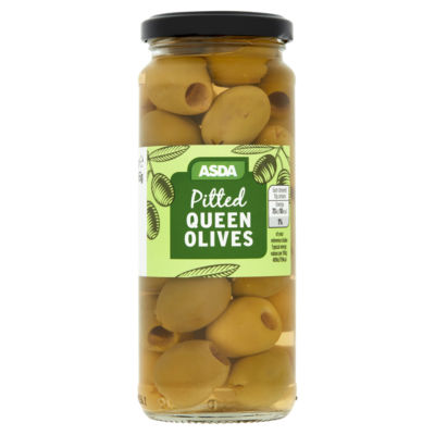 ASDA Pitted Queen Green Olives
