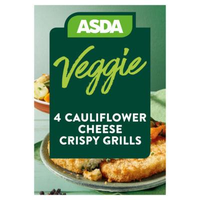 Asda Vegetarian 4 Cauliflower Cheese Crispy Grills