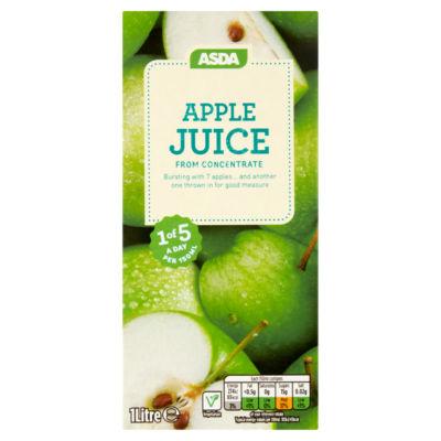 ASDA 100% Pure Apple Juice Carton
