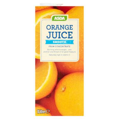 ASDA 100% Pure Orange Juice Smooth