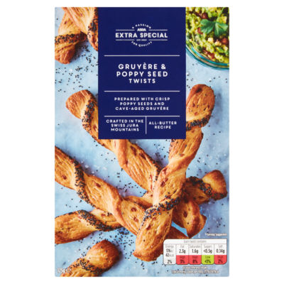 ASDA Extra Special All Butter Gruyere & Poppy Seed Twists