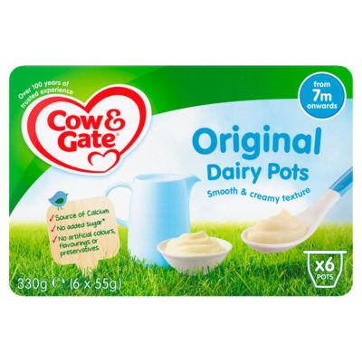 Cow & Gate Original Dairy Pots 7+ Months