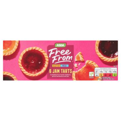 ASDA Free From 6 Assorted Jam Tart Cakes