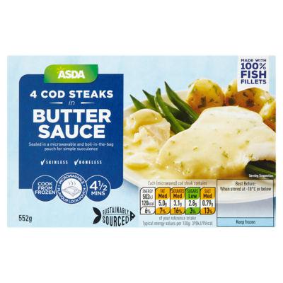 ASDA Boil in the Bag 4 Cod Steaks in Butter Sauce