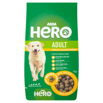 ASDA Hero Meaty Chunks with Chicken Dry Adult Dog Food