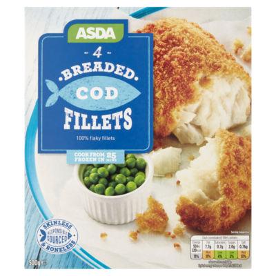 ASDA 4 Breaded Cod Fillets