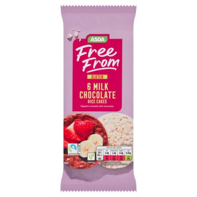 ASDA Free From Belgian Milk Chocolate Rice Cakes