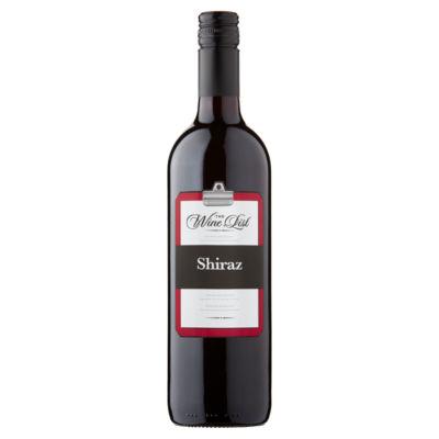 The Wine List Shiraz