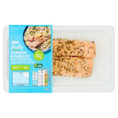ASDA Kiln Roasted 2 Salmon Fillets with Lemon and Parsley