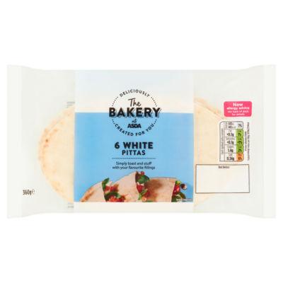 ASDA White Pitta Breads