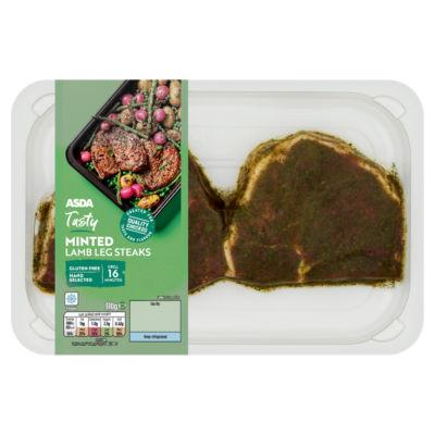 ASDA Butcher's Selection Minted Lamb Leg Steaks