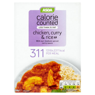 ASDA Calorie Counted Chicken Curry & Rice