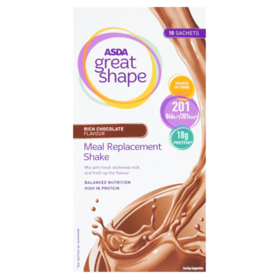ASDA Great Shape Meal Replacement Shake Rich Chocolate Flavour