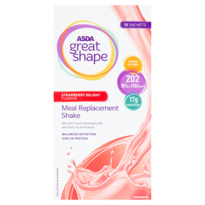ASDA Great Shape Meal Replacement Shake Strawberry Delight Flavour