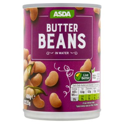 ASDA Butter Beans in Water