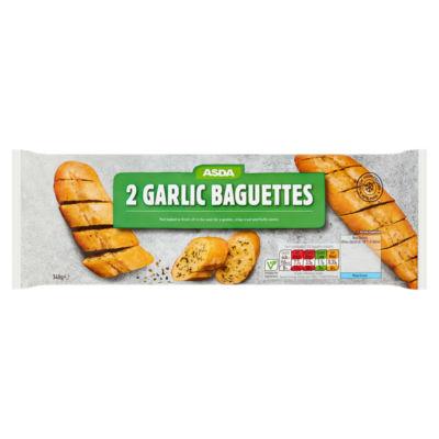 ASDA 2 Garlic Baguettes