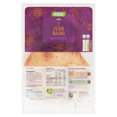 ASDA 2 Plain Naans