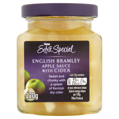 ASDA Extra Special English Bramley Apple Sauce with Cider