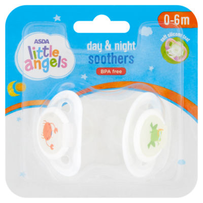 ASDA Little Angels Day & Night Soothers 0 to 6m