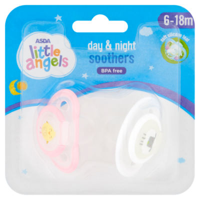ASDA Little Angels Day and Night Soothers 6 to 18m (Colour may vary)