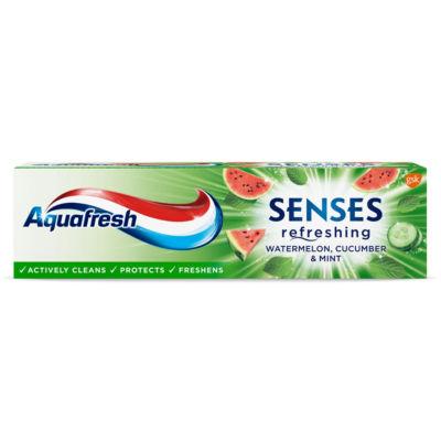 Aquafresh Senses Refreshing Watermelon, Cucumber & Mint Toothpaste