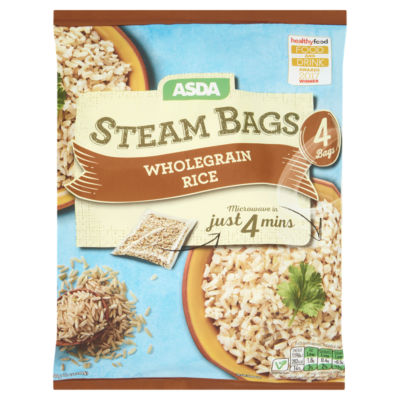 ASDA 4 Steam Bags Wholegrain Rice