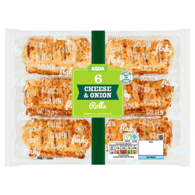 ASDA 6 Cheese & Onion Rolls