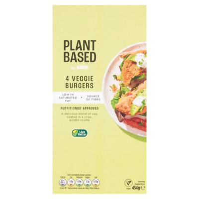 ASDA Plant Based 4 Vegan Vegetable Burgers