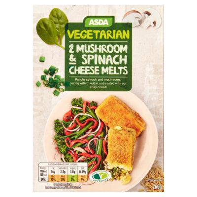 Asda Vegetarian 2 Mushroom & Spinach Cheese Melts