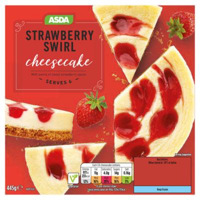 ASDA Strawberry Swirl Cheesecake