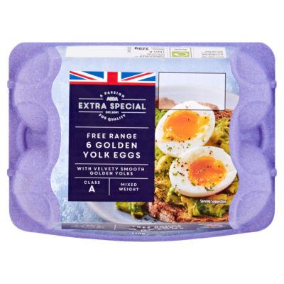 ASDA Extra Special Golden Yolk 6 Mixed Weight Free Range Eggs