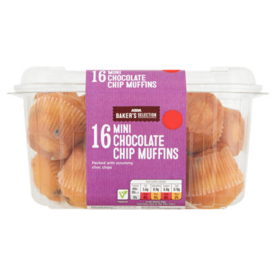 ASDA Baker's Selection Mini Chocolate Chip Muffins