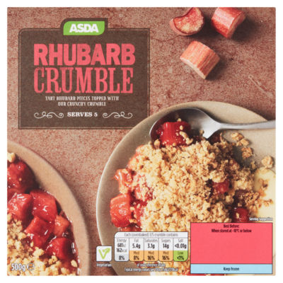 ASDA Rhubarb Crumble