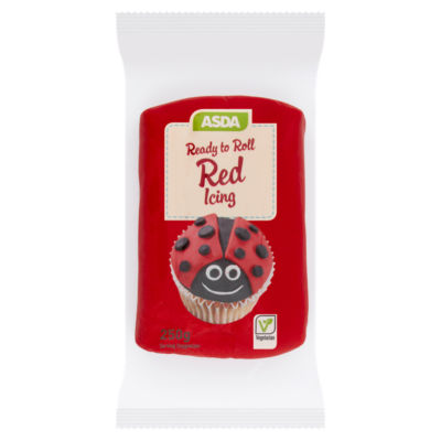 ASDA Ready to Roll Red Icing