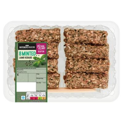 ASDA Butcher's Selection 8 Minted Lamb Kofta Kebabs