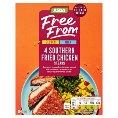 ASDA Free From 4 Southern Fried Chicken Steaks