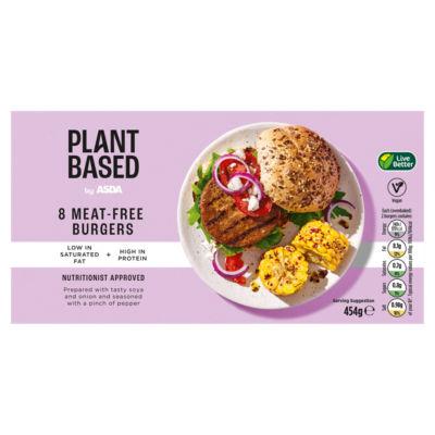 ASDA Plant Based 8 Vegan Beef Style Burgers