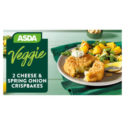 Asda Vegetarian 2 Cheese & Spring Onion Crispbakes