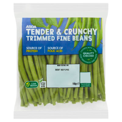 ASDA Grower's Selection Trimmed Fine Beans