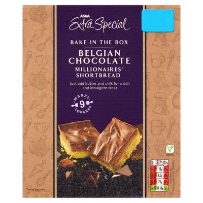 ASDA Extra Special Bake in the Box Belgian Chocolate Millionaires' Shortbread